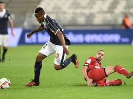 Kamano anotó el primer gol de los bordeleses ante el Guingamp. AFP/Archivo