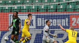 El Borussia ganó sin un juego brillante. AFP