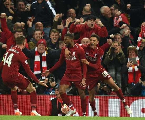A permanência de Wijnaldum já é alvo de movimentos dentro do Liverpool. AFP