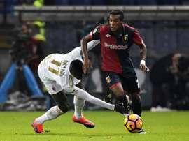 El Milan no pudo detener al Genoa. AFP