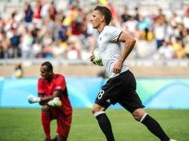 Petersen fue el segundo máximo artillero de la Bundesliga esta temporada. AFP