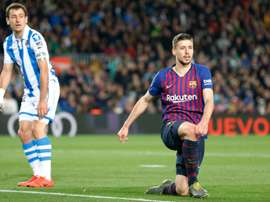 Barcelona's Lenglet discussed Griezmann's potential move to the Camp Nou. AFP