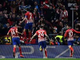 Atlético will pay tribute to departing defender Godín. AFP