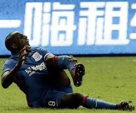 Demba Ba s'était fait insulter en plein match. AFP