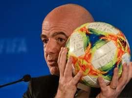 Le président de la Fifa Infantino va entrer au CIO en janvier. AFP