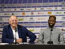 Aulas promet que Dembélé ne va pas partir de Lyon. AFP