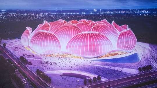 Evergrande va construire deux stades de 80.000 places en Chine. AFP