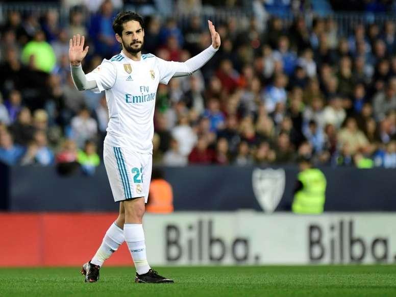 Le milieu de terrain Isco a marqué le premier but de la victoire du Real Madrid à Malaga 2-0. AFP