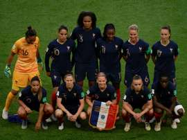 A Seleção Francesa venceu a Coreia do Sul na estreia do Mundial de Futebol Feminino. AFP