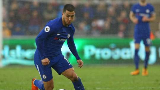 El Chelsea ya piensa en renovar a Hazard. AFP