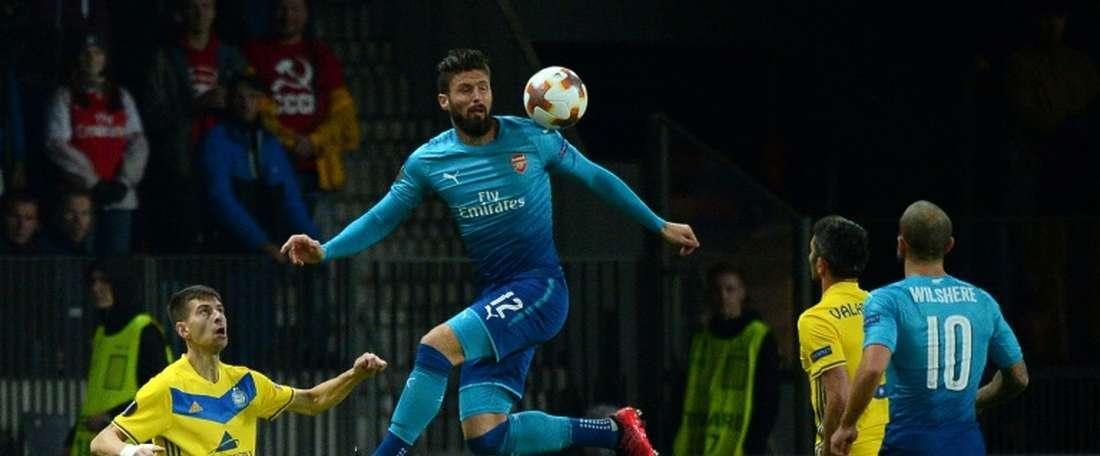 Arsenal volta a vencer na Europa League. AFP