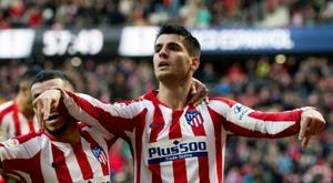 Morata fue el objeto de los insultos de un sector de las gradas del Bernabéu. AFP