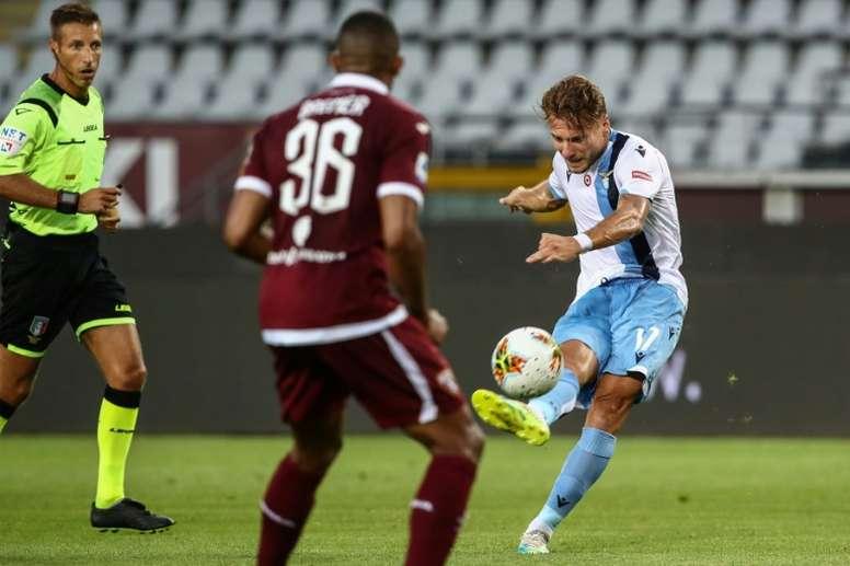 La Lazio Rome s'accroche. AFP
