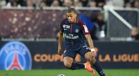 Mbappé ya suma dos Ligue 1 en su palmarés. AFP