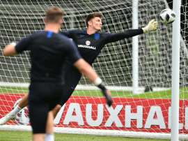 Nick Pope tiene contrato con el Burnley hasta 2020. AFP