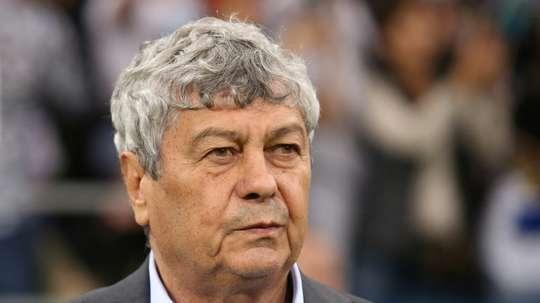 Mircea Lucescu alors entraîneur de la Turquie. AFP