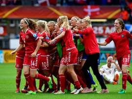 Le Danemark vient d'éliminer l'Allemagne en quarts de finale de l'Euro. AFP