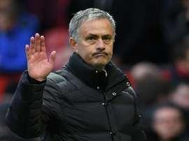 Jose Mourinho à l'issue du match nul entre son équipe de Manchester United et Arsenal. AFP