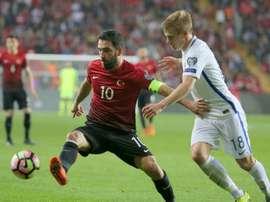 Turan se despediu da Seleção Turca depois de incidente. AFP
