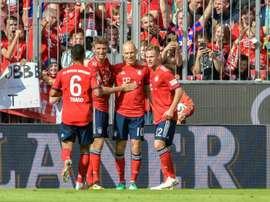 Robben culminó la remontada del Bayern en la visita del Bayer. AFP