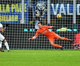 Handanovic vive seu oitavo ano na Inter de Milão. AFP