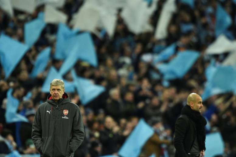 Guardiola offered his support to Wenger. AFP
