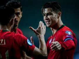 Cristiano irá atrás dos 100 gols com Portugal. AFP