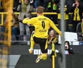 Borussia Dortmund's striker Erling Haaland was not part of the staring eleven. AFP