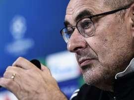 La réponse sèche de Sarri à un journaliste après la défaite contre la Lazio. AFP