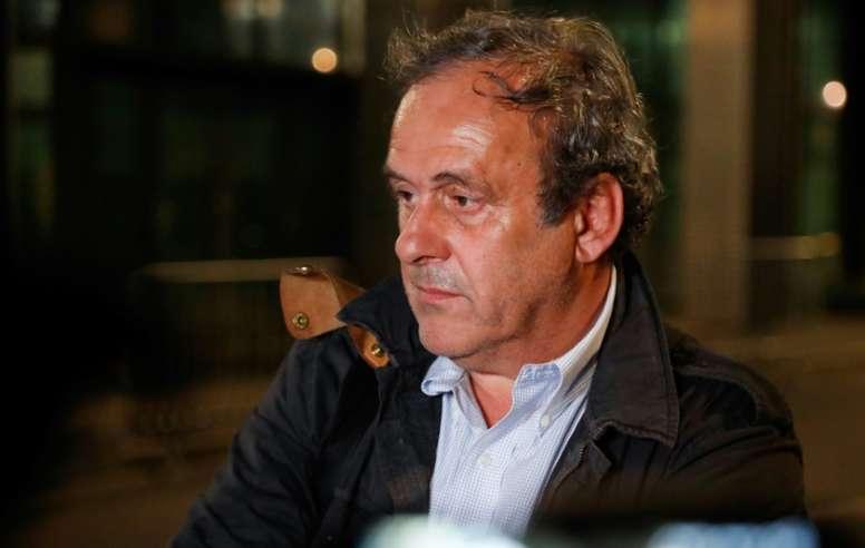 Platini, en su particular infierno. AFP
