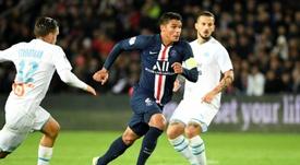 El capitán del PSG fue elegido el mejor jugador del mes. AFP