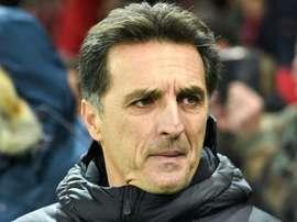 L'entraîneur d'Amiens Christophe Pélissier. AFP