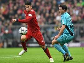 Kovac quer que James continue e melhor o seu nível. AFP