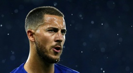 Hazard dreams of playing for the Spanish giants. AFP