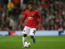 Manchester United confirme le départ de son espoir Angel Gomes. afp