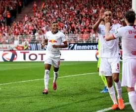 Leipzig s'impose face à Berlin et prend la deuxième place. AFP