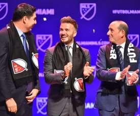 La franquicia de Beckham, cada vez más cerca de ser real. AFP/Archivo