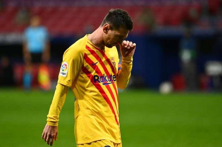 El Barça queda descolgado. AFP