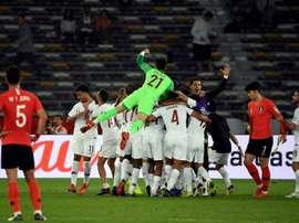 Les Sud-Coréens, pourtant favoris, battus par le Qatar. AFP