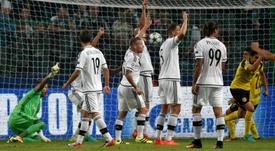 Les joueurs du Legia Varsovie, opposés au Borussia Dortmund sur leur pelouse en Ligue des champions, le 14 septembre 2016