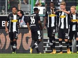 El Borussia Mönchengladbach ya es tercero de la Bundesliga. AFP/Archivo