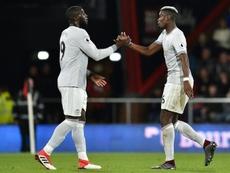 Lukaku a trouvé la faille ce soir avec United. AFP