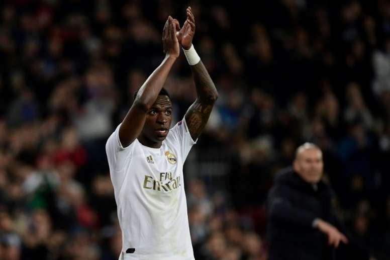 Vinicius reviewed his season before football's restart. AFP