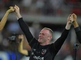 Rooney desencanta e faz o seu primero gol com a camisa do DC United. AFP