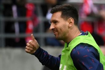 El presidente del Brujas elogió a Messi. AFP