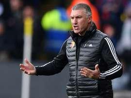 Le manager de Watford redoute un mort en cas de reprise en Angleterre. AFP