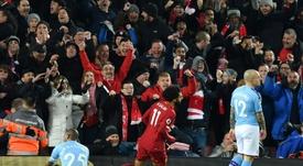 En el Liverpool-Manchester City hubo mucha polémica. AFP