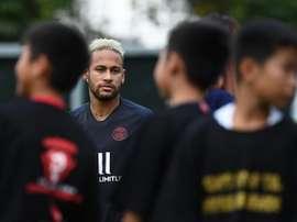 Neymar não estará no grupo do PSG que estreia pela Ligue 1 neste domingo. AFP