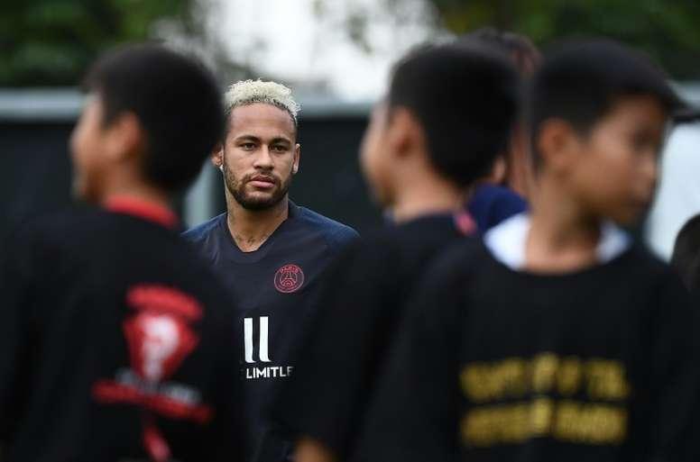 Un brin d'optimisme culé pour Neymar. AFP