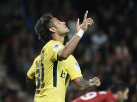 Neymar with a dream start to his PSG career. AFP